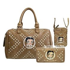 Betty Boop brown quilted taupe wallet shoulder boxer bag set handbag purse rhinestone Betty Boop http://www.amazon.com/dp/B019GPWFH0/ref=cm_sw_r_pi_dp_hJWCwb1AACSVC