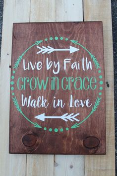Live By Faith Wood Sign / Home Decor / Hand by SweetMonkeyBoutique