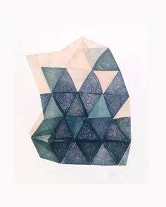"""Raindrop III,"" original abstract print by artist  Paulina Rypakova (Slovakia) available at Saatchi Art #SaatchiArt"