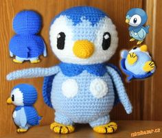 Amigurumi Penguin Piplup (Pokemon) - FREE Crochet Pattern / Tutorial