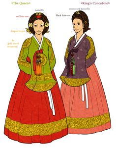 Dang-ui 1 by Glimja on DeviantArt : Norigae is the most famous accessory of Hanbok, which hung from the ribbon of Jeogori (Goreum). It is basically comprised of a string + decorative knots + jewelry + a tasse.