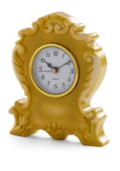 It's Never Too Ornate Clock in Yellow