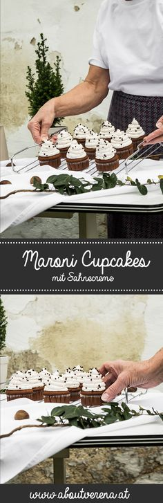 Maroni cupcakes. Muffin Cups, Christmas And New Year, Cake Pops, Baking Recipes, Smoothies, Blogroll, Sweet Stuff, Germany, Winter