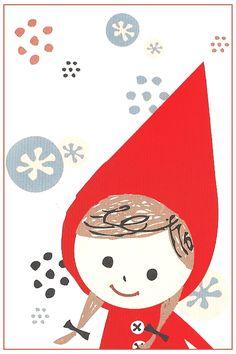 Shinzi Katoh Red Hood Stripe Mini Envelope Set