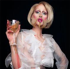 Makeup artist radically transforms into the beautiful, dark, and strange