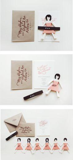 Modelo de convite bacanérrimo para convidar damas de honra ou madrinhas/padrinhos para o casamento ;)
