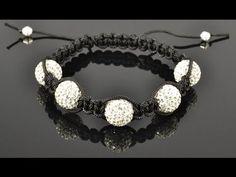 Shamballa Style Bracelet Tutorial - YouTube