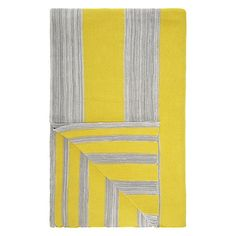 Buy House by John Lewis Stripe Throw, Yellow/Grey Online at johnlewis.com