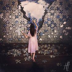 """""""Pieces to the Kingdom"""" Fine Art Photograph Print https://www.etsy.com/listing/239748623/surreal-portrait-photograph-puzzle-fine"""