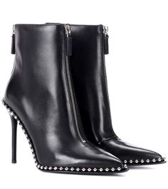 ALEXANDER WANG Embellished Leather Ankle Boots. #alexanderwang #shoes #boots