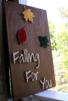 Falling For You/ Fall String Art by DistantRealms on Etsy