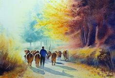 Watercolor landscapes - Aquarelle Watercolor Marichalar