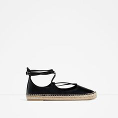 8edb3a4ebdb Zara s LEATHER LACE-UP ESPADRILLES. Great Spring Summer shoe - Shoes Flats  Sandals