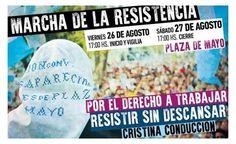 RESISTIR SIN DESCANSAR: MADRES DE PLAZA DE MAYO CONVOCAN A MARCHA DE LA RESISTENCIA.   Vuelven Las Marchas de la Resistencia de las Madres de Plaza de Mayo tras 10 años Comenzaron en 1981 para reclamar la vigencia de los derechos humanos. Decidieron finalizarlas tras de las políticas de Nestor Kirchner en ese sector. Este viernes y sábado se realizará una nueva Marcha de la Resistencia frente a la Casa Rosada en reclamo de la vigencia de los derechos humanos. Las Madres y Abuelas de Plaza de…