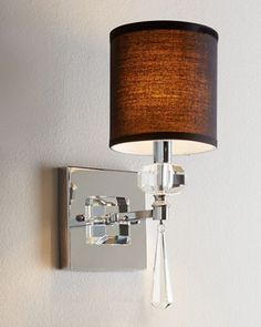 """""""Freeport"""" Sconce at Horchow. Need a different color shade."""