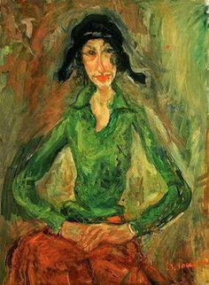 chaim soutine woman in green