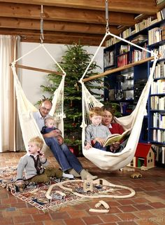 Inside hammock chairs...Noah would love this!