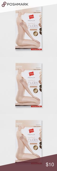 Pantyhose Nude Premium Women Size 1x 2X Cool Comfort Wicking from waist to toe Comfort Flex non-binding super stretchy waistband Moderate tummy control Run resistant technology resists snags 10 denier appearance  Inventory # Bin E Hanes Intimates & Sleepwear