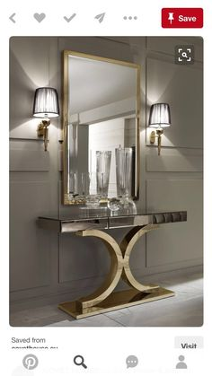 Mirrors are fundamental pieces for any interior, or decor style. Here we explore 10 decorative mirror designs for the modern home decor Best Interior, Modern Interior Design, Luxury Interior, Interior Design Inspiration, Luxury Furniture, Mirror Furniture, Diy Inspiration, Mirror Inspiration, Gold Interior