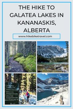 The Galatea Lakes hike in Kanananaskis Country, Alberta is actually fun with a bit of snow on it. Access is via Lillian Lake on a well used and signed trail Beautiful Places To Visit, Places To See, Alberta Travel, Canadian Travel, Visit Canada, Mountain Hiking, Travel Goals, Travel Tips, Best Hikes