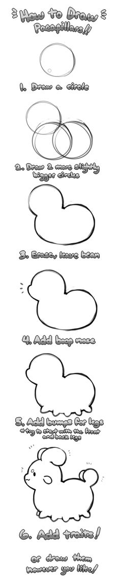 Pacapillars - How to Draw by toripng on @DeviantArt