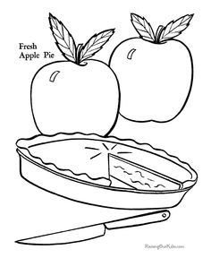 apple slice coloring pages | Slice Apple Pie Coloring Page | Printables | Pinterest ...