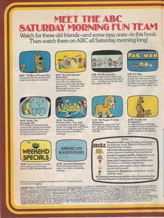 ABC Saturday Morning ad from 1983