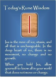 ☆ The Rune - I - Isa - Standstill, Ice ☆