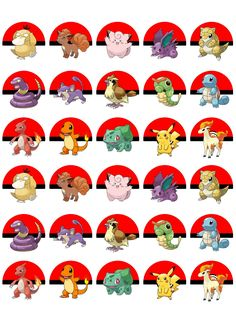 Pokemon edible cupcake muffin toppers Pack of 30 These toppers are ideal for parties and are completely edible and look fantastic The toppers are Pokemon Cupcakes Toppers, Pokemon Go Cakes, Festa Pokemon Go, Pokemon Faces, Edible Cupcake Toppers, Pokemon Themed Party, Pokemon Birthday, 21st Birthday, Cake Birthday