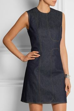 Victoria Beckham Denim | Denim mini dress | NET-A-PORTER.COM