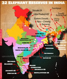 32 Elephant Reserves in India in 2021 MAP Elephant, Notes, India, Map, Report Cards, Goa India, Location Map, Elephants, Notebook