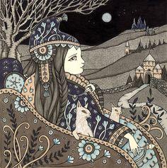 Anita Inverarity   INK on illustration board   Sveikimo
