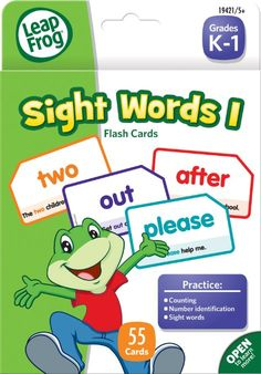 LeapFrog Sight Words I Flash Cards for Grades K-1, Pack of 56 (19421)