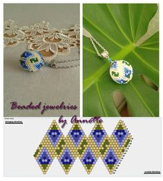 Beaded beads tutorials and patterns, beaded jewelry patterns, wzory bizuterii koralikowej, bizuteria z koralikow - wzory i tutoriale Beaded Beads, Beaded Bracelet Patterns, Beaded Christmas Ornaments, Beaded Earrings, Beading Patterns, Peyote Bracelet, Crochet Ball, Bead Crochet Rope, Beaded Jewelry Designs
