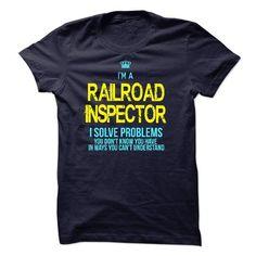 Im A/An RAILROAD INSPECTOR - #pink shirt #tshirt decorating. SECURE CHECKOUT => https://www.sunfrog.com/LifeStyle/Im-AAn-RAILROAD-INSPECTOR-59987362-Guys.html?68278