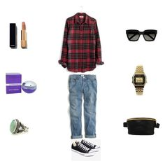 converse by eftimie-gabriela on Polyvore featuring Madewell, J.Crew, Converse, Mi-Pac, Casio, Yves Saint Laurent and Paco Rabanne