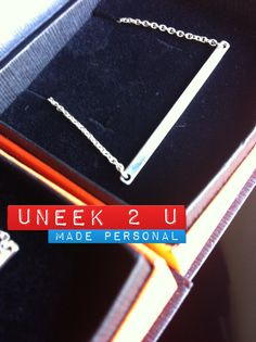 Hand crafted sterling silver bar pendant. Do what you love, love what you do :) U2U xxx