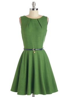Luck Be a Lady Dress in Green. If youve been searching for a charming new frock, then youre in luck! #green #modcloth