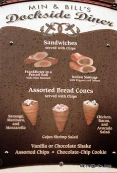 NEW! Bread Cone Sandwiches spotted at #Disney's Hollywood Studios!