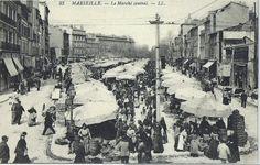 ANCIENNES PHOTOS ET HISTOIRES DU COURS JULIEN AVANT LES ANNEES70   Marseille hier - Marseille Forum Notre Dame, Europe, France, Paris, Deco, Illustration, Rues, Central, Painting
