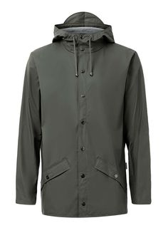 RAINS Khaki Rain Jacket - Men's Coats & Jackets - Clothing - TOPMAN USA
