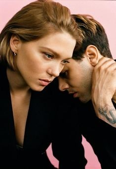 Xavier Dolan and Léa Seydoux captured in a black & white image for Madame Figaro. Xavier Dolan, Couple Posing, Couple Shoot, Lea Seydoux Style, Picsart, Cute Couple Selfies, Gaspard Ulliel, Thing 1, French Actress