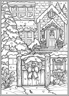 Detailed Coloring Pages, Cute Coloring Pages, Coloring Pages To Print, Animal Coloring Pages, Coloring Pages For Adults, Dover Coloring Pages, Christmas Coloring Sheets, Printable Christmas Coloring Pages, Printable Adult Coloring Pages