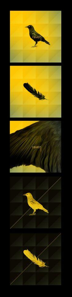 Raven   Branding Design by Alberto Cerriteno