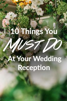 Eat, drink, and be merry? Yep, that pretty much sums it up! Your wedding reception is the one time–maybe in your whole life–that the universe will truly revolve around you. It's your 5 hours of fame and you'll want to use every minute wisely.