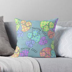 'Pastel Cardiac Rhythm Hearts' Throw Pillow by Gail Gabel, LLC Cardiac Rhythms, Gabel, Canvas Prints, Art Prints, Nursing Students, Designer Throw Pillows, Pillow Design, Sell Your Art, Finding Yourself