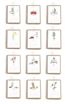 2013 Calendar - Jaunty Animals. $24.00, via Etsy. Think I need to buy it. Just for myself.