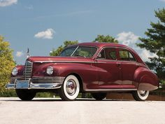 Last Packard with full upright grille.  Clipper.