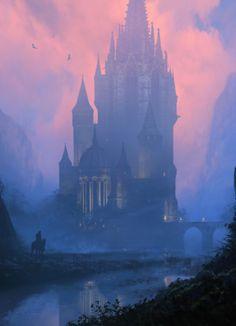 Tabernacle by Richard Wright Fantasy Art Watch Fantasy City, Fantasy Castle, Fantasy Places, Fantasy Kunst, Fantasy World, Fantasy Concept Art, Fantasy Artwork, Digital Art Fantasy, Environment Concept Art
