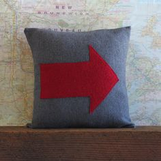 grey wool pillow cover // upcycled wool pillow // by 645workshop